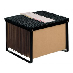 Soporte para carpetas colgante q-connect negro bastidor de sobremesa para carpetas tamañotamaño folio y din a4