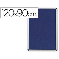 Tablero de anuncios q-connect mural grande fieltro azul 120x90 cm