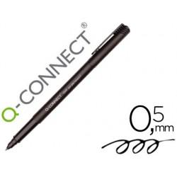 Rotulador q-connect retroproyeccion punta fibra super fina redonda 0.5 mm permanente negro