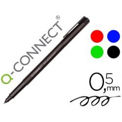 Rotulador q-connect retroproyeccion punta fibra super fina redonda 0.5 mm permanente bolsa 4 rotuladores