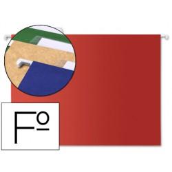 Carpeta colgante liderpapel folio roja