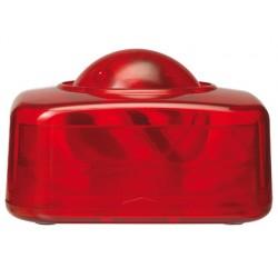 Portaclips q-connect con bola dispensadora giratoria plastico rojo