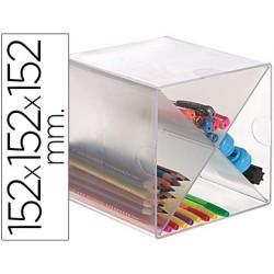 Archicubo archivo 2000 aspa organizador modular plastico 152x152x152 mm incluye 2 clips de sujecion