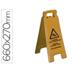 Cartel plastico q-connect señalizacion suelo resbaladizo