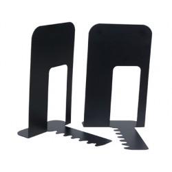 Apoyalibros metalico q-connect kf00837 negro juego 165x127x165mm