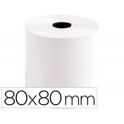 Rollo sumadora termico q-connect 80 mm ancho x 80 mm diametro sin bisfenol a