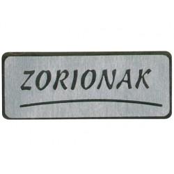 Etiquetas adhesivas zorionak 500 unidades plata