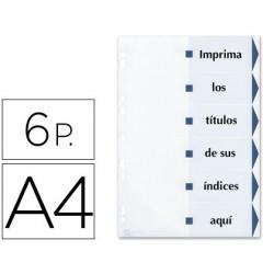 Separador de cartulina avery imprimible 6 separadores din a4