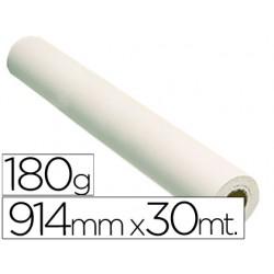 Papel reprografia glossy 180 grs. para plotter papel fotografico brillo 914x30 mts. 2880 dpi