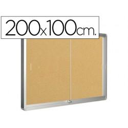 Vitrina de anuncios q-connect marco de aluminio 1000 x 2000 mm