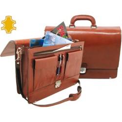 Cartera portafolios artesania de piel con broche 40,3x30x10,5 cm fabricada en ubrique