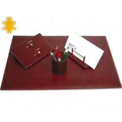 Escribania de sobremesa artesania de piel juego de 4 piezas 40x60x0,6 cm fabricada en ubrique