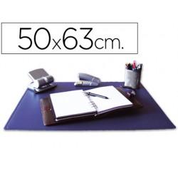 Vade sobremesa q-connect azul 50x63 cm