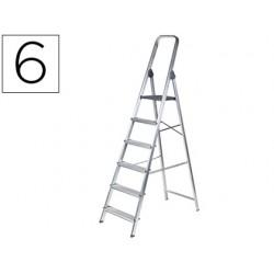 Escalera q-connect de aluminio 6peldaños 1203x510x1895 mm peso maximo 150 kg en-131