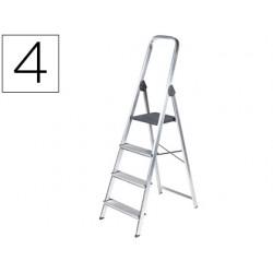 Escalera q-connect de aluminio 4 peldaños 860x462x1470 mm peso maximo 150 kg en-131