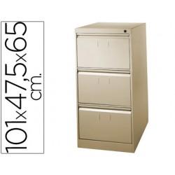 Fichero cajones de suelo metalico de 3 cajones 101 alto,65 prof. 47,5 ancho color beige n.34