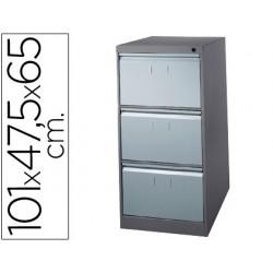 Fichero cajones de suelo metalico de 3 cajones 101 alto,65 prof. 47,5 ancho color gris n.1375