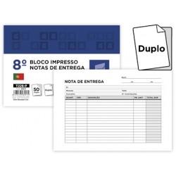 Talonario liderpapel entregas octavo apaisado 228 duplicado -texto en portugues