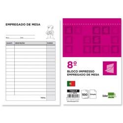 Talonario liderpapel camarero octavo -sin iva- 102 -texto en portugues