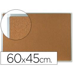 Pizarra corcho q-connect marco de aluminio 60x45 cm