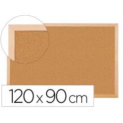Pizarra corcho q-connect 120x90 cm marco de madera