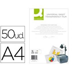 Transparencia q-connect din a4 de alta calidad kf26074 para ink-ket caja de 50