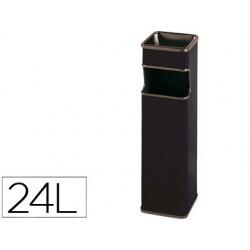 Cenicero papelera cuadrado 403 negro -metalico -medida 65x18x18 cm