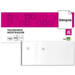 Talonario liderpapel mostrador 60x145 mm tl02 blanco con matriz