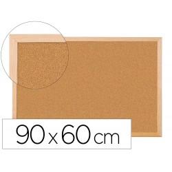 Pizarra corcho q-connect 90x60 cm marco de madera