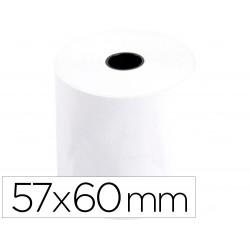 Rollo sumadora termico q-connect 57 mm ancho x 60 mm diametro sin bisfenol a