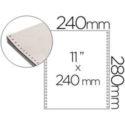 Papel continuo 240x11 blanco -2 hojas -caja de 1500 juegos