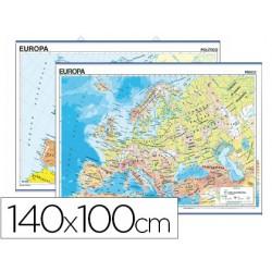 Mapa mural europa fisico/politico 140x100 cm