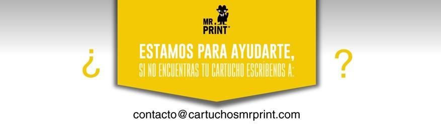 Estamos para ayudarte, si no encuentras tu cartucho escríbenos a contacto@cartuchosmrprint.com